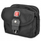 Outdoor Red Cross Logo Zipper Nylon Fabric Carrying Storage Bag - Black