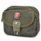Outdoor Red Cross Logo Zipper Nylon Fabric Carrying Storage Bag - Army Green