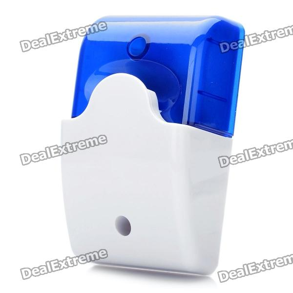 100dB Alarm Siren with Blue Strobe Flashing Light - Blue + WhiteAlarm Systems<br>Form  ColorWhiteMaterial:Rated Current:Packing List<br>