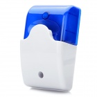 100dB Alarm Siren with Blue Strobe Flashing Light for Home Security System - Blue + White (DC 12V)
