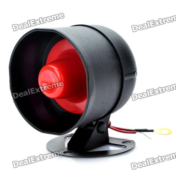 15W 115dB Loud Security Alarm Siren Horn Speaker - Black + Red (DC 12V) 120db loud security alarm siren horn speaker buzzer black red dc 6 16v page 4