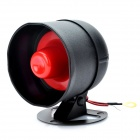 15W 115dB Loud Security Alarm Siren Horn Speaker - Black + Red (DC 12V)