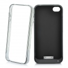 Plastic Protective Bumper + 2000mAh External Battery Back Case + USB Data Cable for iPhone 4 / 4S