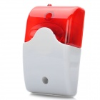 100dB Alarm Siren with Red Strobe Flashing Light for Home Security System - Red + White (DC 12V)