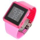 Fashion Waterproof Digital Wrist Watch - Rose Red (1 x CR2025)