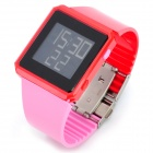 Fashion Waterproof Digital Wrist Watch - Red (1 x CR2025)