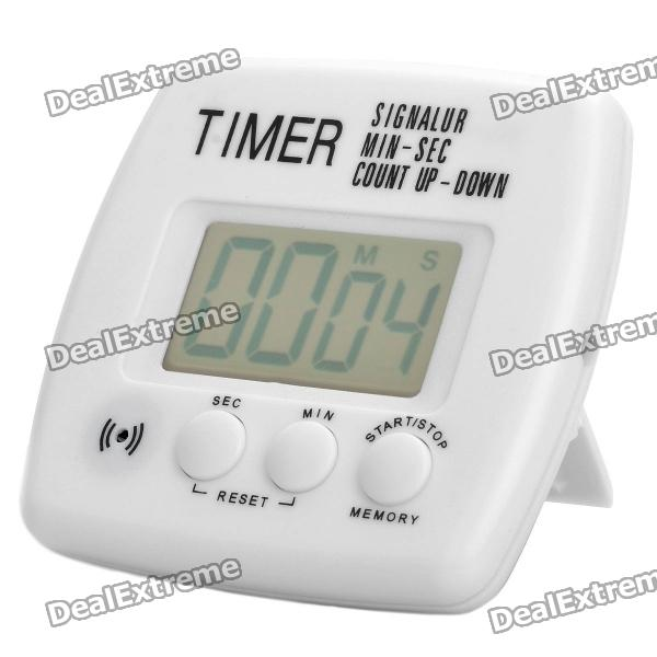 1.7 LCD Digital Timer (1 x AAA) novelty run around wake up n catch me digital alarm clock on wheels white 4 aaa
