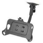 Car Swivel Curved Pipe Mount Holder w/ Suction Cup for Samsung Galaxy Note i9220 / GT-N7000 - Black