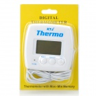 "Digital Compact 1.7"" LCD Refrigerator Air Conditioner Thermometer with Sensor (1 x AAA)"