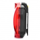 Bicycle Bike 7-Mode 5-LED Red Light Tail Warning Safety Light - Red + Black (2 x AAA)