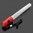 Multifunction Red Light Stick Rod w/ White LED Flashlight & Lifesaving Whistle (3 x LR44)