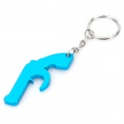 Pistol Shaped Bottle Opener Keychain - Random Color