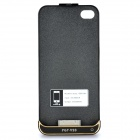 Rechargeable 1500mAh External Battery Back Case for iPhone 4 / 4s - Black