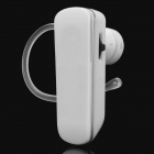 Designer's Bluetooth 3.0 Handsfree Headset with Microphone - White (8-Hour Talk/72-Hour Standby)