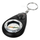 Keychain Compass with Thermometer