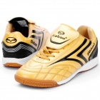 Indoor Football Soccer Shoes - Golden + Black (Size-41 / EU)