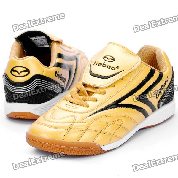 Indoor Football Soccer Shoes - Golden + Black (Size-42 / EU)