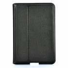 Ultra-Thin Protective PU Leather Case for Samsung P6800 / P6810 - Black
