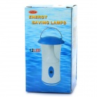 1W 7000K 110LM 12-LED White Light Camping Lamp - White + Blue (3 x AA)