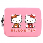 Cute Hello Kitty Pattern Dual Zippered Protective Soft Pouch Bag for iPad / iPad 2 - Pink