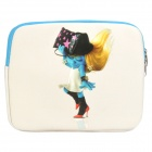 Chromatic The Smurfs Smurfette Pattern Dual Zippered Protective Soft Pouch Bag for iPad / iPad 2