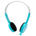 Stylish Headphone Headset w/ Microphone - Blue (3.5mm-Plug / 175cm-Cable)