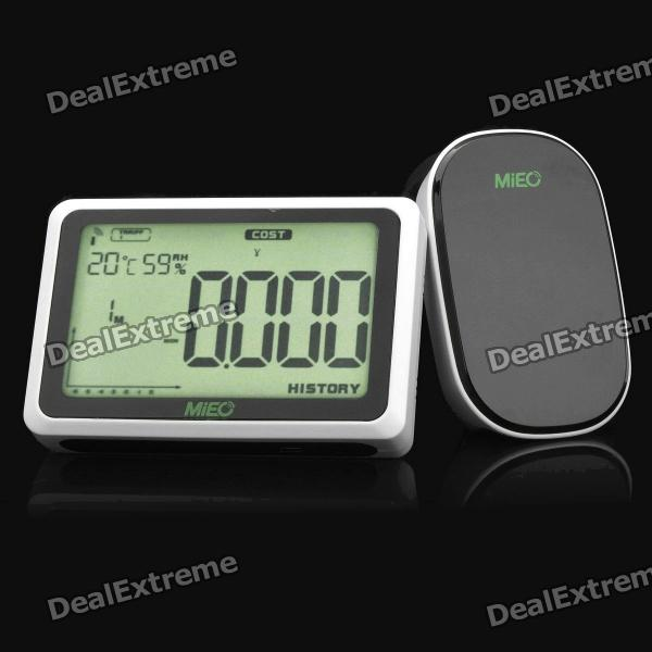 Wireless Home Energy Monitor : Mieo quot lcd wireless home electricity energy monitor