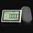 "MIEO 4.2"" LCD Wireless Home Electricity Energy Monitor - Black + White (3 x AA + 3 x AAA)"
