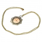 Charming Sunflower Style Pocket Watch with Chains (1 x 377)