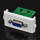 VGA Female RJ45 Female Signal Adapter Module for 86 Switch Panel