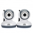 "2.4GHz Wireless 10-LED IR Night Vision Cameras with 2.4"" LCD Handheld Baby Monitor (2-Cameras)"
