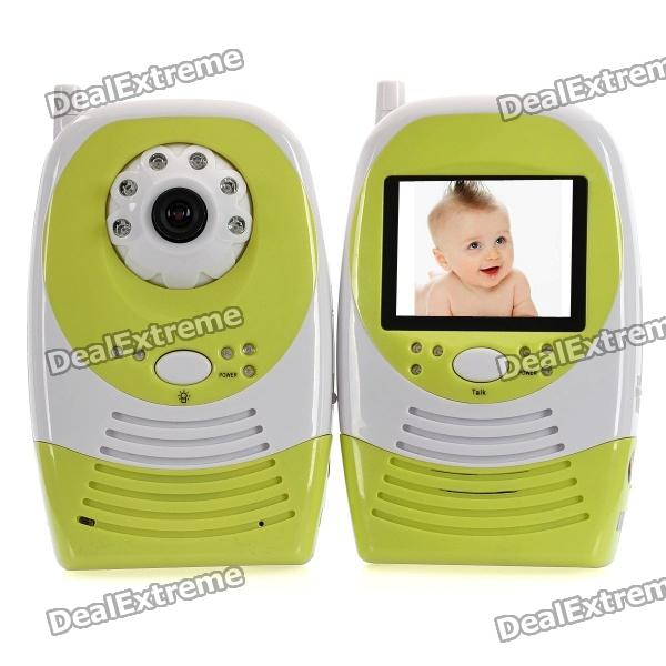 "2.4GHz Wireless 6-LED IR Night Vision Camera with 2.4"" LCD Handheld Baby Monitor"