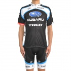 2011 SUBARU Cycling Bicycle Riding Short Sleeve Suit Jersey + Shorts Set (Size-L)