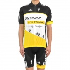 2011 LIVESTRONG Cycling Bicycle Riding Short Sleeve Suit Jersey + Shorts Set (Size-L)