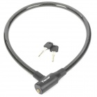 Anti-Theft Bike Bicycle Security Cable Lock with 2 Keys - Black (80cm-Length)