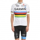 2011 GARMIN UC Cycling Bicycle Riding Short Sleeve Suit Jersey + Shorts Set (Size-L)