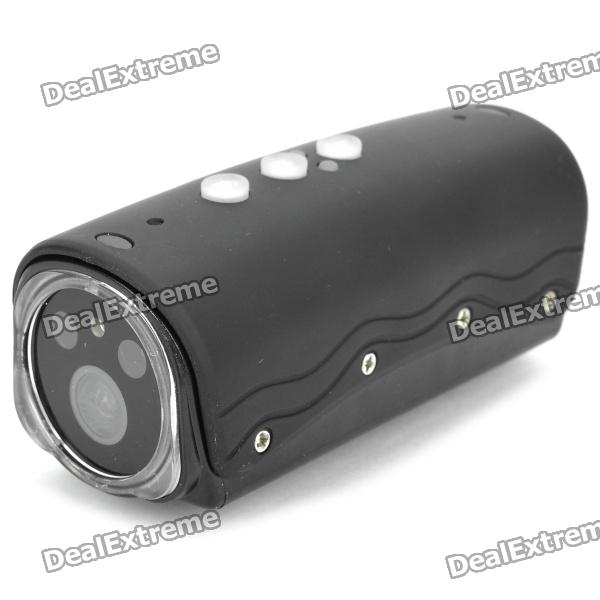 RD32II 1080P Mini Sports DV 5.0MP CMOS Water Resistant Camera Camcorder w/ TF / 2 LEDs / 1 Red Laser