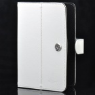 "Protective PU Leather Case for 7"" & 8"" Tablet - White"