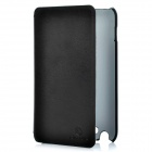 Protective Genuine Leather Case w/ Screen Guard & Cleaning Cloth for Samsung Galaxy I9220 - Coffee