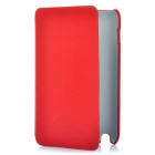 Protective Genuine Leather Case w/ Screen Guard & Cleaning Cloth for Samsung Galaxy I9220 - Red