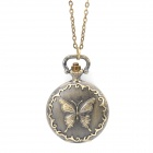 Retro Fashion Butterfly Pattern Pocket Watch with Necklace Chain (1 x 377)