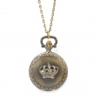 Retro Fashion Crown Pattern Pocket Watch with Necklace Chain (1 x 377)