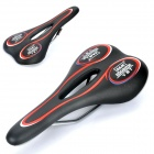 Replacement Leather Covering Mountain Cycling Saddle - Red