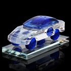 Crystal Car Model Style Perfume Bottle Container - Transparent + Blue