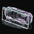 Crystal Car Model Style Perfume Bottle Container - Transparent + Purple