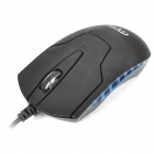 High Performance 1000DPI Optical Mouse with PS2 Connector - Black (150CM Cable)