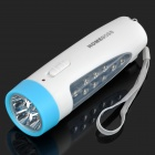 2-in-1 Rechargeable 13-LED 2-Mode Flashlight / Desktop Lamp - White + Blue