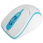 Мини Bluetooth 2.0 Wireless Optical Mouse - белый + синий (2 х AAA)