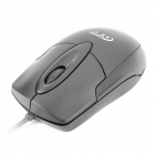 Stilvolle USB 1000dpi Optical Mouse - Schwarz (150cm Kabel)