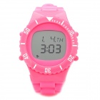 Stylish J-W133 Multifunction Wireless Heart Rate Monitor Sports Watch - Pink (1 x CR2032)